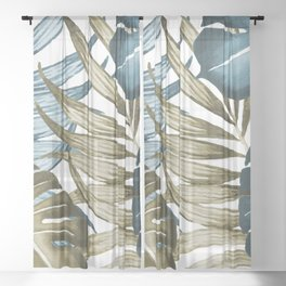 TROPICAL LEAVES 5 Sheer Curtain