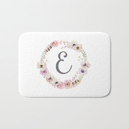 Floral Wreath - E Bath Mat