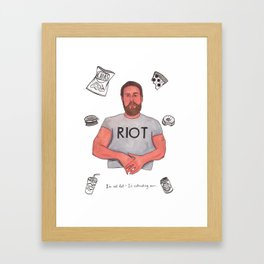 Fat Mac Framed Art Print