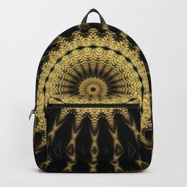 Golden extravaganza mandala Backpack