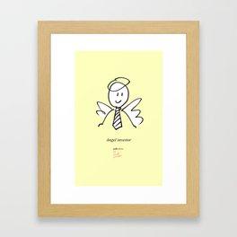 Angel investor Framed Art Print
