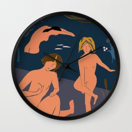 The Bathers, ver. 2 Wall Clock