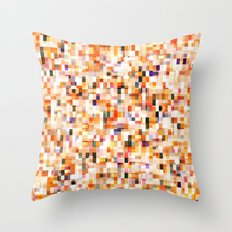 colored bricks Throw Pillow