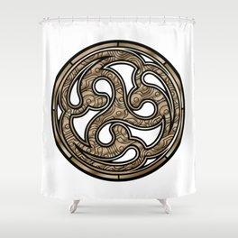 Bronze Medallion Shower Curtain