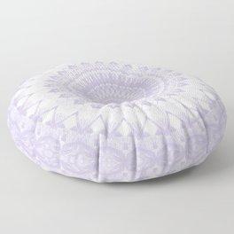Boho Pastel Purple Mandala Floor Pillow