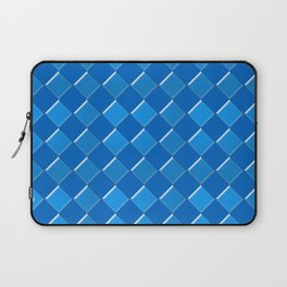 Blue tiles pattern Laptop Sleeve