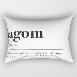 Lagom Definition Rectangular Pillow