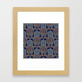 HAMSA HAND PATTERN Framed Art Print