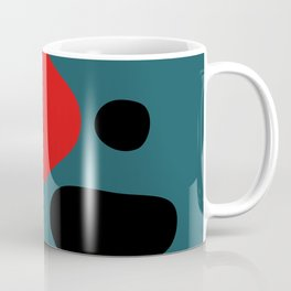 Minimal Red Black Abstract Art Coffee Mug