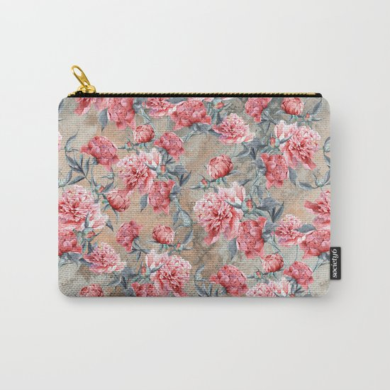 Peony II Carry-All Pouch