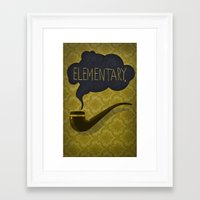 sherlock Framed Art Prints featuring sherlock by serbangabriel