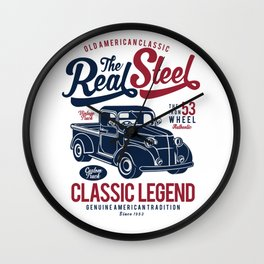 The Real Steel Vintage Truck Wall Clock