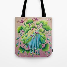 the flamingo world Tote Bag