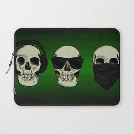 Hear No Evil, See No Evil, Speak No Evil Skulls Laptop Sleeve
