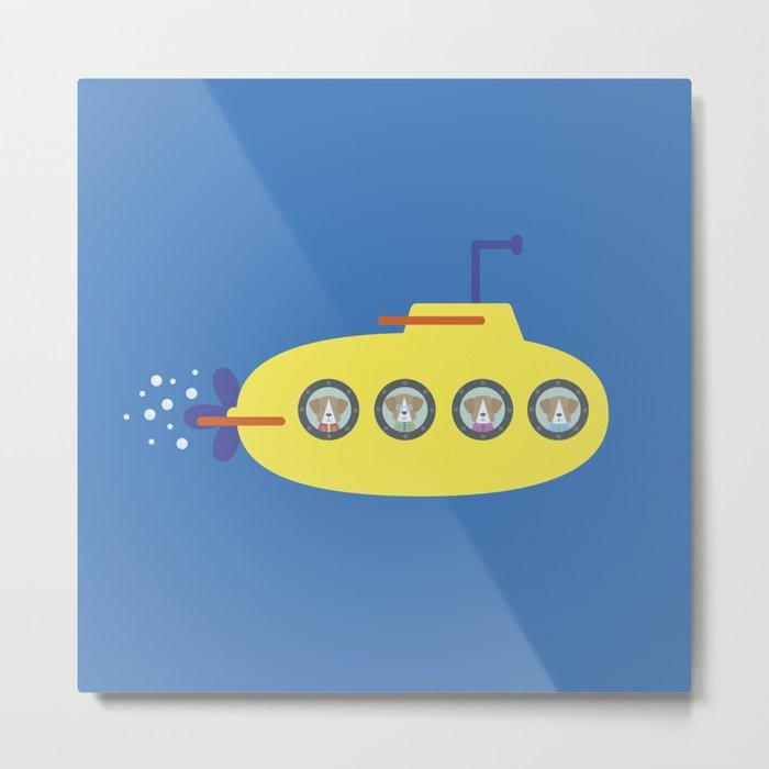 The Beagles - Yellow Submarine Metal Print