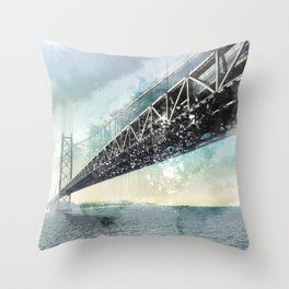 San Francisco, Bay Brisge 2 Throw Pillow