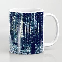 Magical Forest Teal Gray Elegance Coffee Mug
