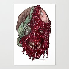 Heads of the Living Dead  Zombies: Road Rash Zombie Canvas Print