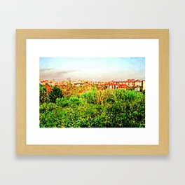 Catanzaro: green and buildings Framed Art Print