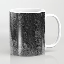 Backpacking Camp Fire B&W Coffee Mug