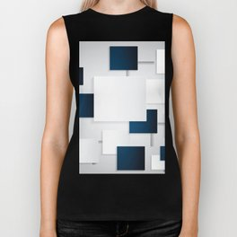 BLACK AND WHITE SQUARES ON A GRAY BACKGROUND Abstract Art Biker Tank