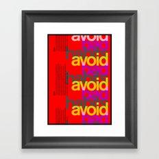Avoid bad habits. A PSA for stressed creatives. Framed Art Print