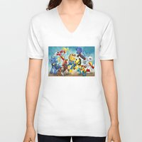 mlp V-neck T-shirts featuring MLP X-Men by Kimball Gray