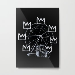 Banksy - Ferris Wheel - Tribute To JMBasquiat Artwork Metal Print