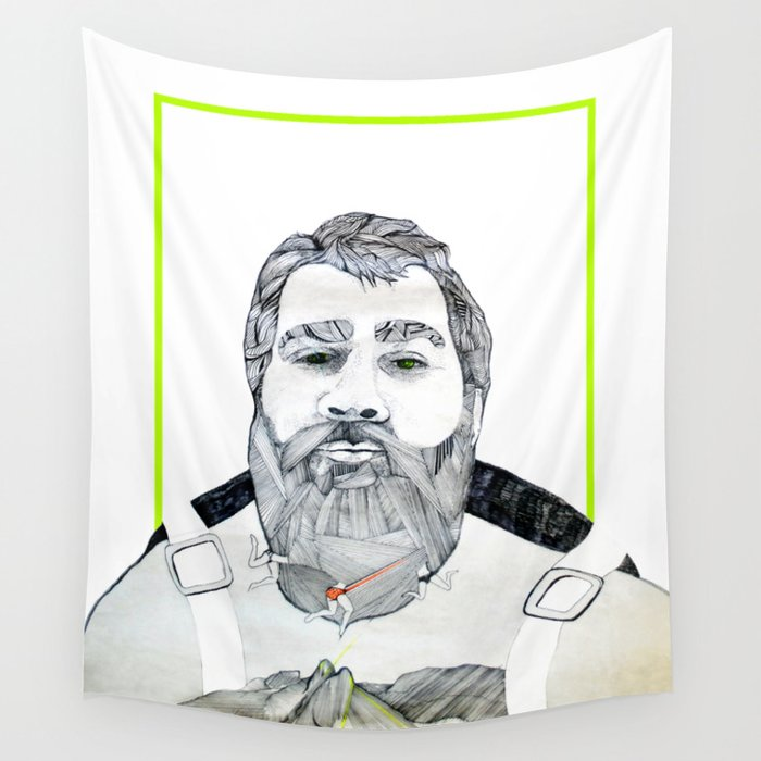 Man with a beard Wall Tapestry