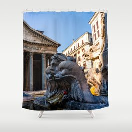Fontana del Pantheon Shower Curtain