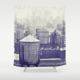 foggy memories of nyc... Shower Curtain