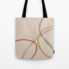 """""""I Will Not Worry. I Will Be Fine. I Will Brave This New Season One Day At A Time."""" Tote Bag"""