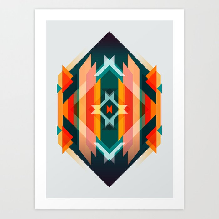 Broken Diamond - Incalescence Art Print