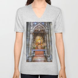 Saint Padre Pio St Stephens Cathedral Vienna Unisex V-Neck