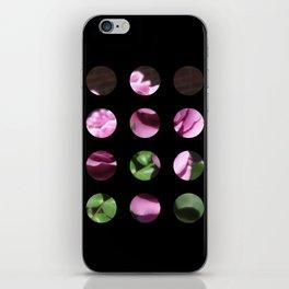 Rosas Moradas 1 Art Circles 2 iPhone Skin