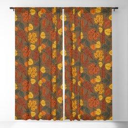 Falling Leaves Pattern II Blackout Curtain