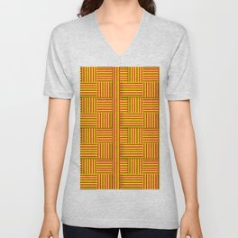 Wattle and daub wall Unisex V-Neck
