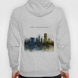 San Francisco Watercolor Skyline Hoody