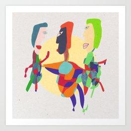 - threesome - Art Print