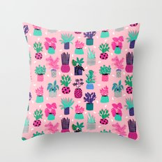 M'kay - southwest cactus desert trendy 90s bright neon 80s style retro classic Throw Pillow