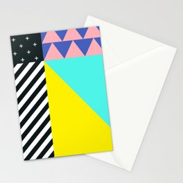 Memphis pattern 90 Stationery Cards