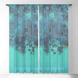 paint splatter on gradient pattern bt Sheer Curtain