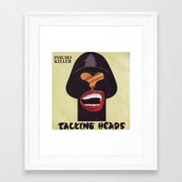 talking heads Framed Art Prints featuring Talking Heads by Popp Art