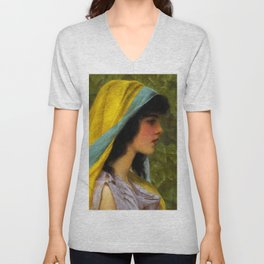"John William Godward ""Melissa"" Unisex V-Neck"