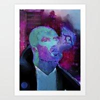 Purple memory Art Print