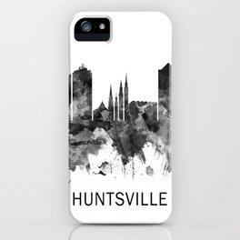 Huntsville Alabama Skyline BW iPhone Case