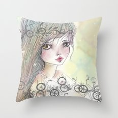 Bikes and crown Throw Pillow