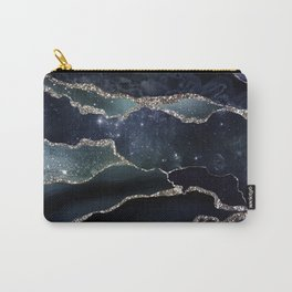 Black Night Galaxy Marble Carry-All Pouch