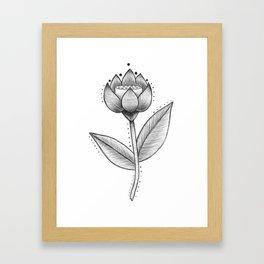 Lotus Be  Framed Art Print