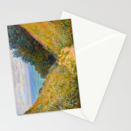 Claude Monet Impressionist Landscape Oil Painting Road at La Cavée, Pourville Stationery Cards